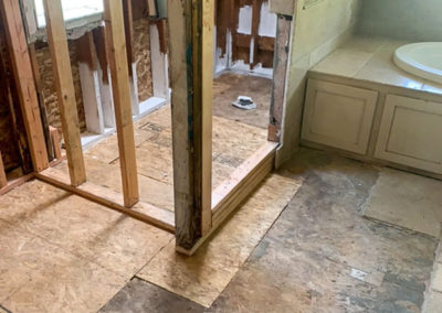 In the process of restoring a bathroom from water damage.